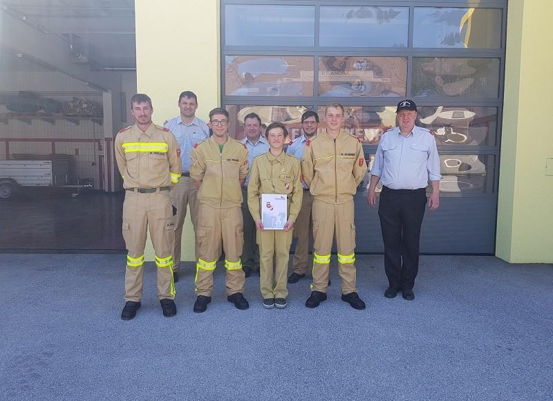Leistungsabzeichen in Gold der Feuerwehrjugend