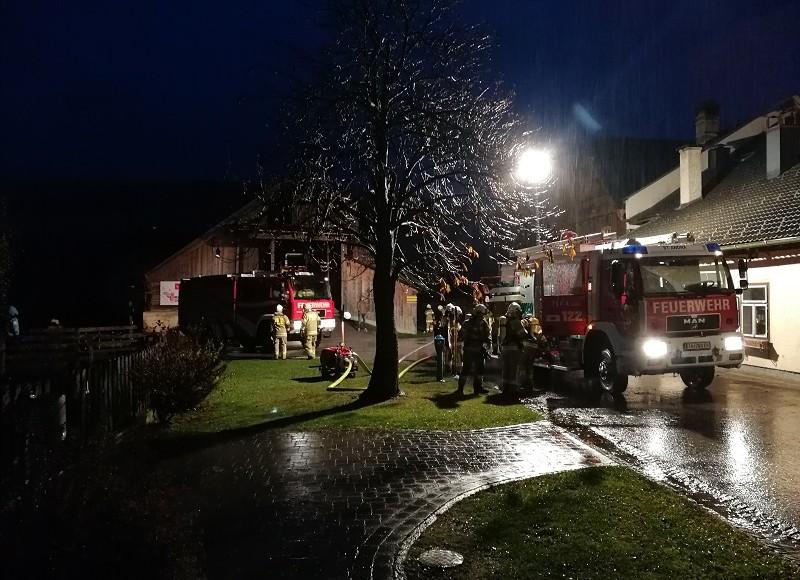 Gesamtübung der Feuerwehr St.Andrä