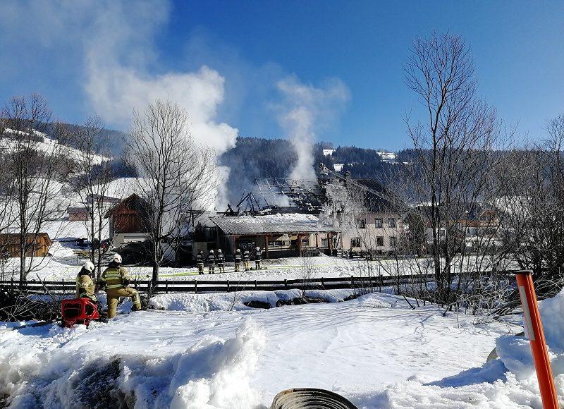 Großbrand in Weisspriach am 19.2.2019