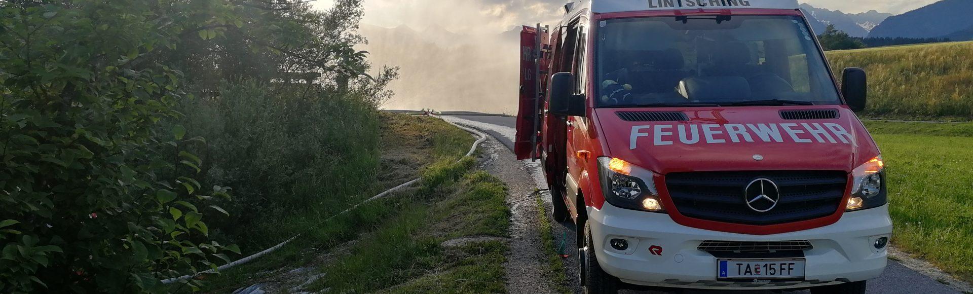 Feuerwehrübung Lintsching